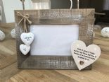 Shabby personalised Chic Photo Frame Uncle Great Uncle From Niece Nephew Present - 253402798497